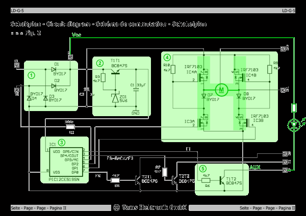 Electrical diagram of a decoder