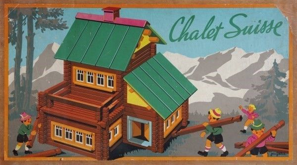 Châlet suisse - Illustration of the lid