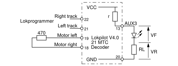 AUX3 output test diagram