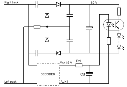 Diagram with DCC decoder