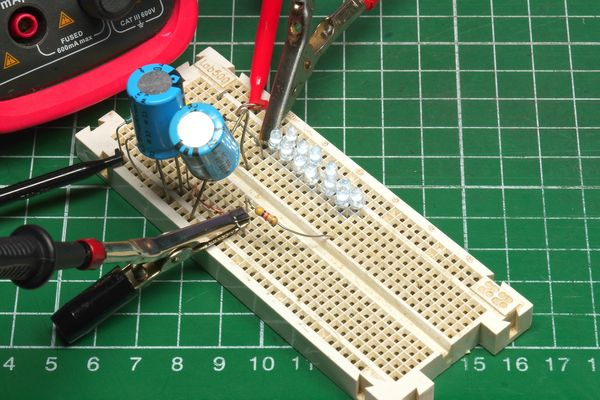 View of the breadboard