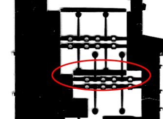 Bad etching of the couplings