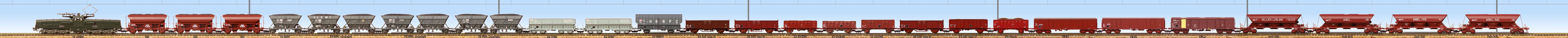 Open wagons and hoppers