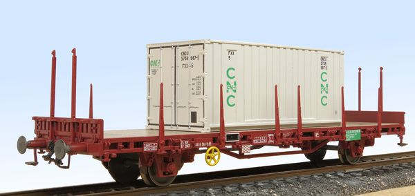Container carrying flat wagon Roco