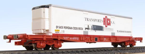 Sgss container flat wagon Jouef