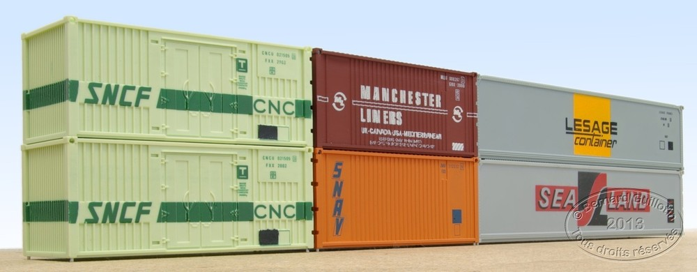 20 and 40 ft ISO containers Jouef