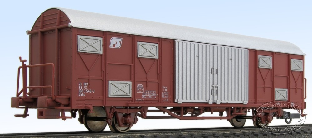 FS Gbhs 2-axle covered wagon Oskar